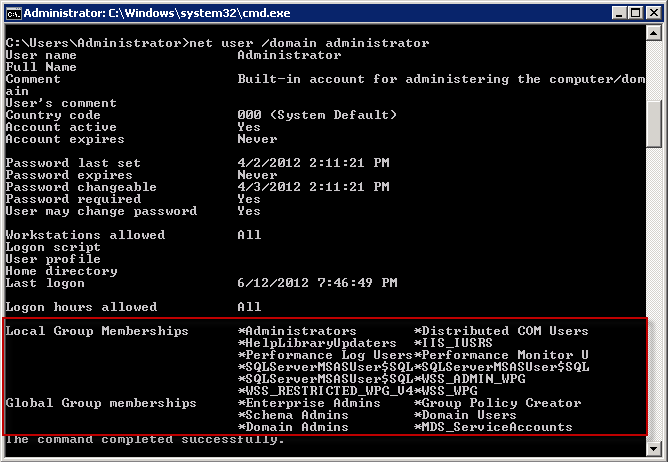 Command Line Prompts for Checking Active Directory