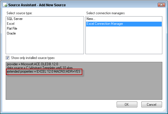 Using Excel Macro ( xlsm) Enabled Files in SSIS – Devin Knight