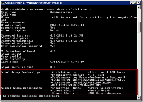Command Line Prompts for Checking Active Directory Membership