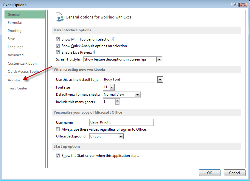 how to add powerpivot in excel 2013