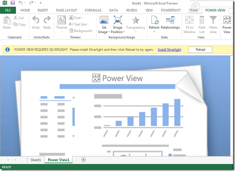 Excel 2013 – Trouble Installing Silverlight for Power View