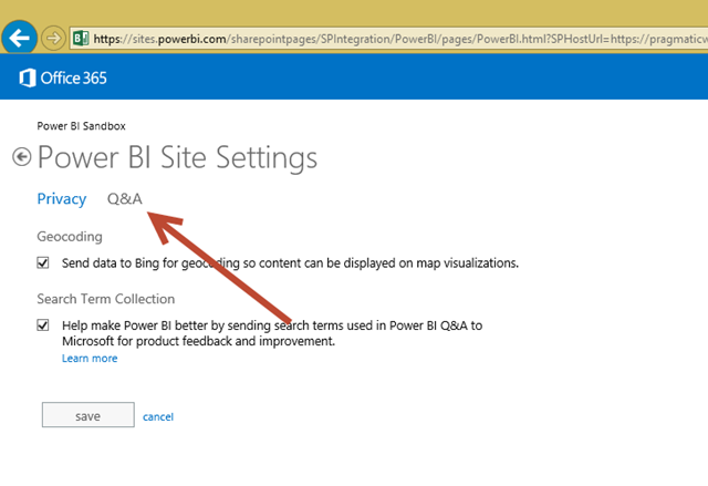 Optimizing Power BI Q&A with Synonyms & Phrasing Using Cloud Modeling
