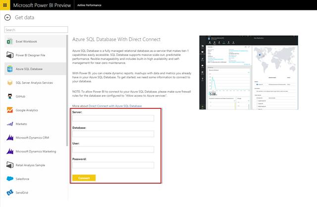 Power BI with Azure SQL Database